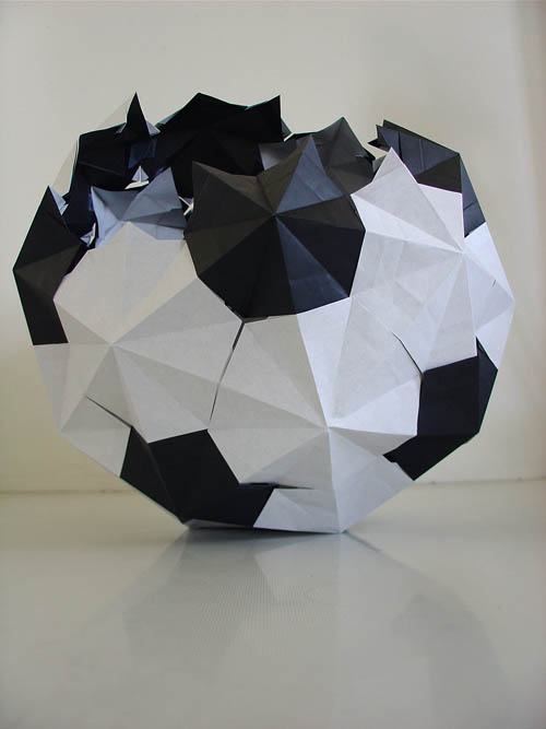 soccer ball in origami.
